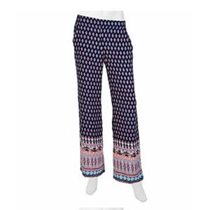 A. Byer Printed Palazzo Pants Size Small